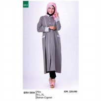 Busana muslim wanita/Gamis/Long Dress wanitaGarsel Fashion BRH 0004 ABU