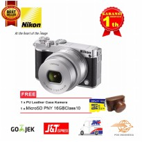 Nikon 1 J5 Kit 10-30mm Free MicroSD 16 GB Class 10 Dan PU Leather Case Camera Promo