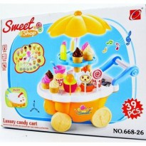 #Mainan Anak ICE CREAM CART PLAYSET , SWEET SHOP LUXURY CANDY CART , MAINAN ANAK