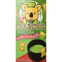 [poledit] Lotte FAMILY PACK Koala`s March Green Tea Matcha Creme Filled Cookies - Japanese/12835772