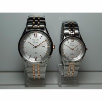 Alexandre Christie Couple AC8510MDLD Classic Silver Rosegold Original