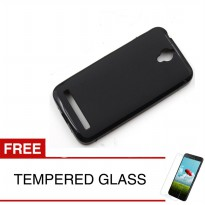 Case for Asus Zenfone GO 6.9 inch / ZB690KG - Slim Soft Case - Hitam Solid + Gratis Tempered Glass