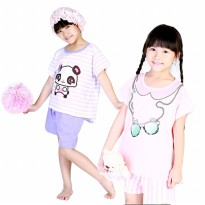 Stelan Pendek House Of MC | Girls | Motif All Eyes - Panda