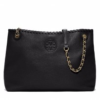 Tory Burch Marion Chain Shoulder Slouchy Tote Black - (DB418 - Hitam)
