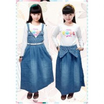 Bananana Little Cool Girl Overall Skirt Anak