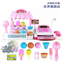 Mainan Cash Register with Ice Cream Mini Market