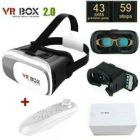 Vr Box 3d Virtual Reality + Controller Bluetooth Paket