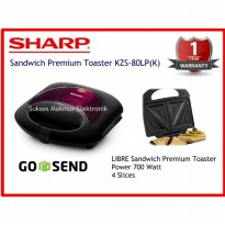 Sandwich Toaster Sharp KZS-80LP(K)