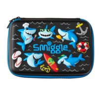 Smiggle Tempat Pensil Hardtop Pencil Case Black Shark Original