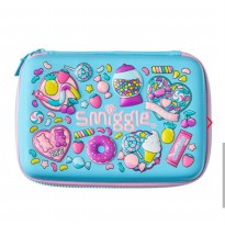 Smiggle Tempat Pensil Hardtop Pencil Case Blue Original