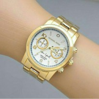 Jam Tangan Michael Kors New York Gold Plat Cream Kw Super