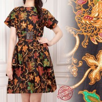 SB Collection Dress Midi Milea Batik Terusan Orange