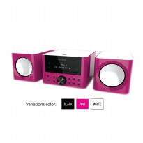 Sharp Audio XL-LS703BH(PK) - Pink, Micro System
