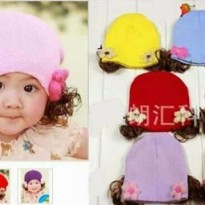 Cute Flowie Hat with Hair