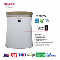 Sharp FP-G50Y-W Air Purifier COVERAGE AREA 40m2-New