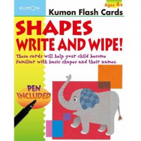 [Xivan] Kumon Flash Cards Shapes Write and Wipe! (pen included)