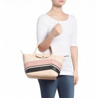 Authentic Longchamp Cuir Chevron - Cream