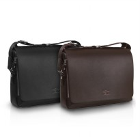 Best Selling! Medium Size High Quality Guarantee Men Leather Handbag Messenger Bag - Tas Pria