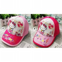 0694 Topi Hello Kitty All Size (Fit to 2-7 Tahun)