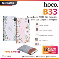 Hoco Power bank B33-20000 Flower story 20000mAh with LED Display - Pink