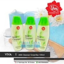 VIVA MILK CLEANSER GREENTEA GREEN TEA BPOM 100ML