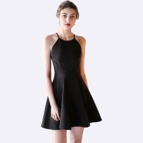 Mini Dress tanpa lengan Gaya Korea Model Terbaru - Jfashion Youra