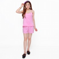 Stelan Baju Tidur Sexy Camisoles dan Hot pants - Jfashion Sexy Pants