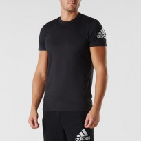 Adidas PRIME TEE Short T-Shirts Training Top Climalite Black AI7476