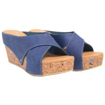 Dr.Kevin Women Sandals Wedges 27367 Blue