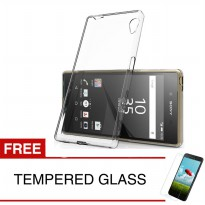 Case For Sony Xperia Z4 Compact / 4.7 inch - Clear + Gratis Tempered Glass - Ultra Thin Soft Case