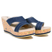 Dr.Kevin Women Wedges Sandals 27355 Blue