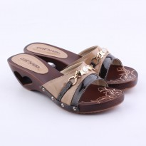 Catenzo Sandal Kelom Wanita YTx055 Cream brown