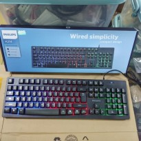 Philips K214 Silent Gaming Keyboard Colorful