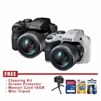 Fujifilm Finepix S9400W Hitam - FREE Accessories