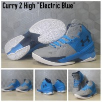 Sepatu Basket Under Armour UA Curry 2 High Electric Blue