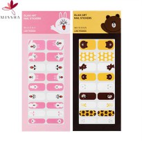 Missha Line Friends Edition Glam Art Nail Stickers