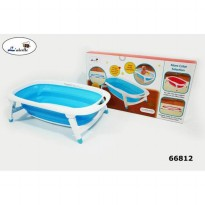 Folding Baby Bath Blue Labeille Bathub Bak Mandi Bayi CC-6602 Original