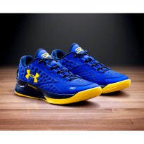 Sepatu Basket UA Curry 1 One Low Dubnation Blue