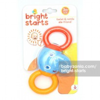 Bright Starts Twist & Rattle Ele-Friend NEW