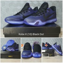 Sepatu Basket Kobe X Black out (purple Black)