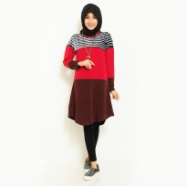 Tunik Kaos wanita Muslim model terbaru - Jfashion Shelby