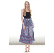 Women's Long Skirt Denim Printing