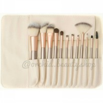 PROFESSIONAL MAKE-UP TOOLS / CHAMPAGNE MAKEUP BRUSH SET 12 PCS - KUAS MAKEUP