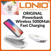 Power Bank Powerbank Wireless 5000Mah Fast Charging LDNIO PW501 Original