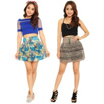 Women's Florar Skirt Simpel Elegan