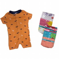 Romper Bayi Branded - Unisex - Newborn - 12M - isi 3 pc s- Carters & Next