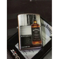 Zippo Jack Daniels Bottle Design Street Chrome