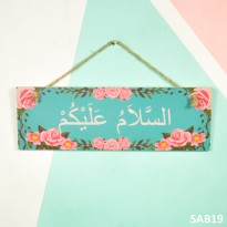 Wall decor pajangan hiasan dinding rumah shabby chic welcome - B19