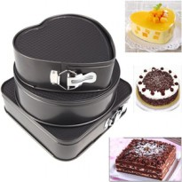 Wajan Panggang Cake Kue 3 in 1 Tray Stainless Steel Anti Lengket