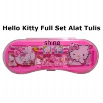 ( ISI 2 PCS )HELLO KITTY BEAUTIFUL/KOTAK PENSIL/PINK/ALAT TULIS 1 SET